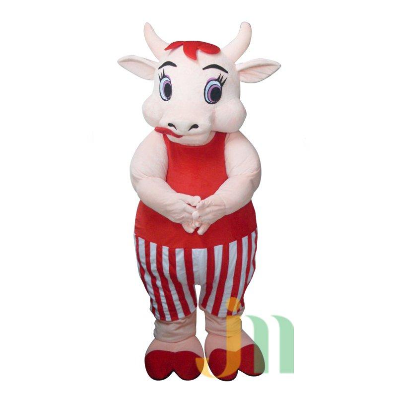 Chubby Cartoon Walking Doll Clothing Doll Cartoon Cow Hedging Chubby Cow Mascot Costume