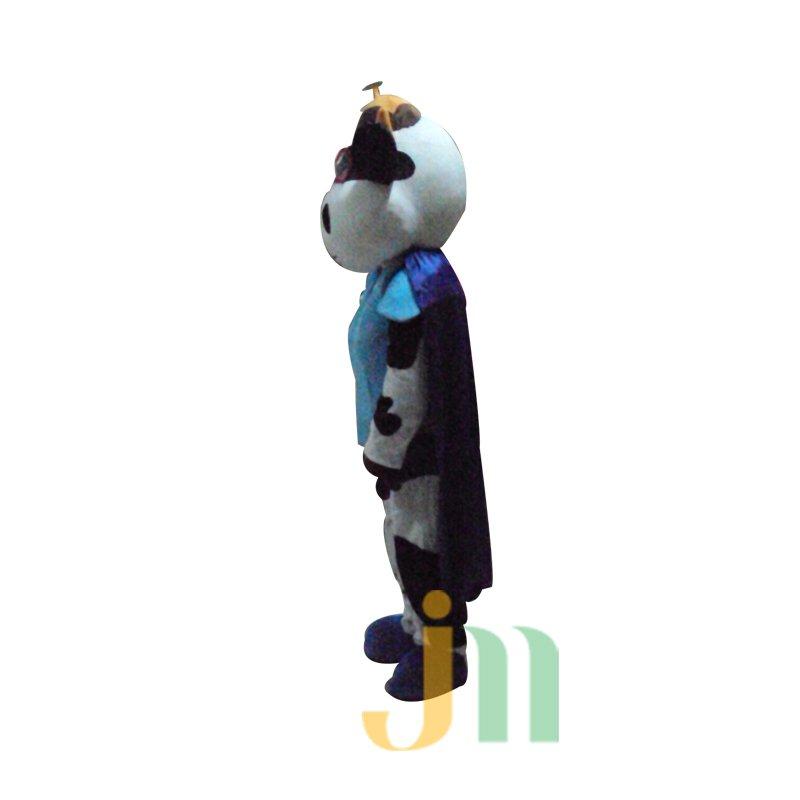Masked Man Cartoon Cow Walking Doll Doll Cartoon Clothing Hooded Jacket Cow Puppet Mascot Costume