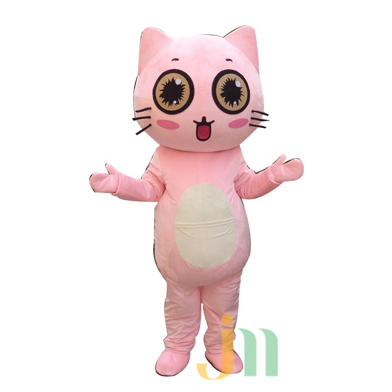 Pink Cat Cartoon Dolls Cartoon Clothing Walking Doll Hedging Pink Pussy Mascot Costume