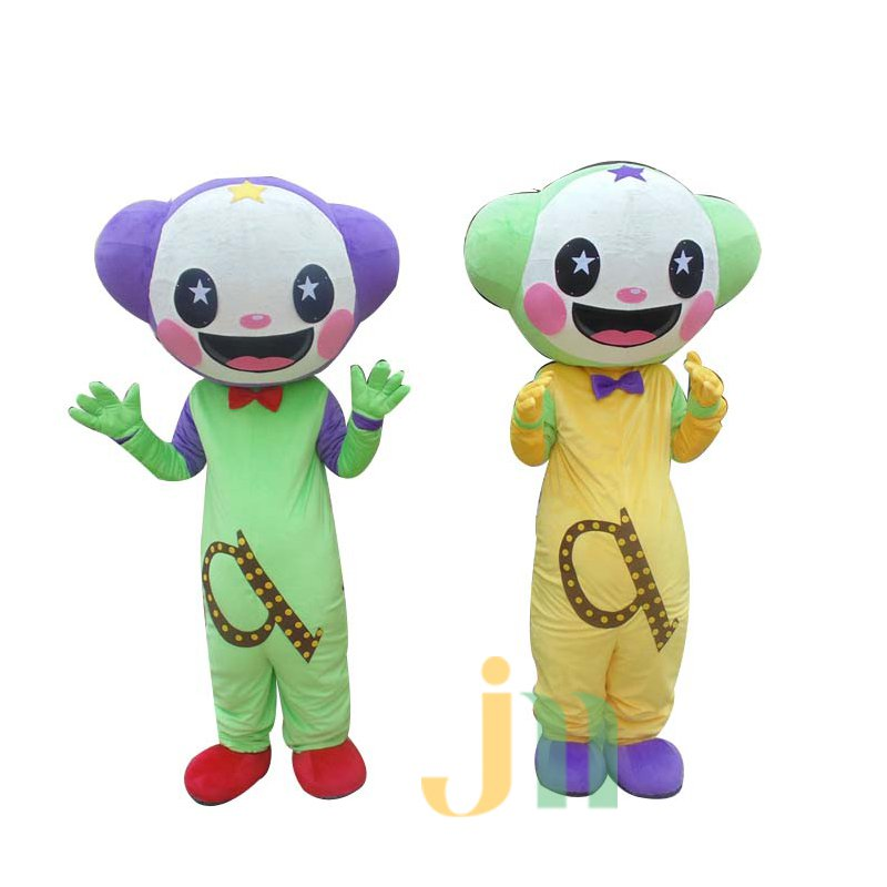 Two-color Cartoon Walking Doll Cartoon Clothing Doll Dolls and White Dolls Hedging Mascot Costume