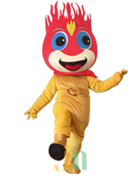 Cartoon Doll Clothing Walking Hedging Fire Baby Doll Mascot Costume Decoration Animation Activities