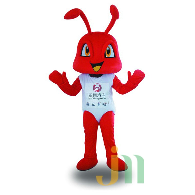Cartoon Red Ant Doll Cartoon Walking Doll Clothing Hedging Red Ants Mascot Costume