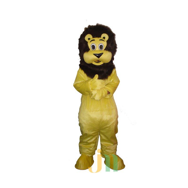 Cartoon Yellow Lion Walking Doll Doll Cartoon Clothing Sets Head Yellow Lion Mascot Costume