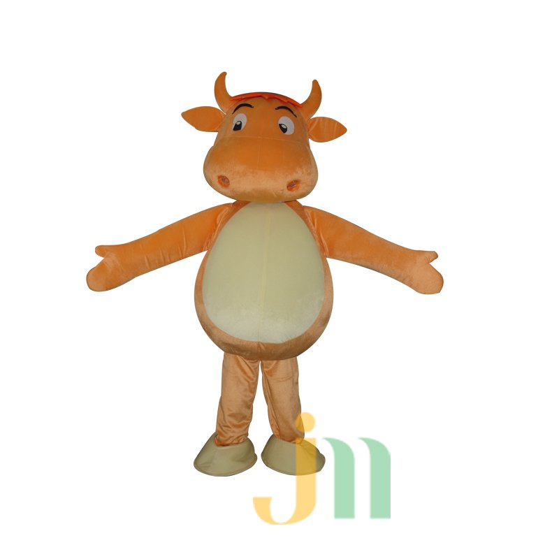 Cattle Cartoon Doll Cartoon Walking Doll Clothing Doll Sets of Small Cattle Mascot Costume