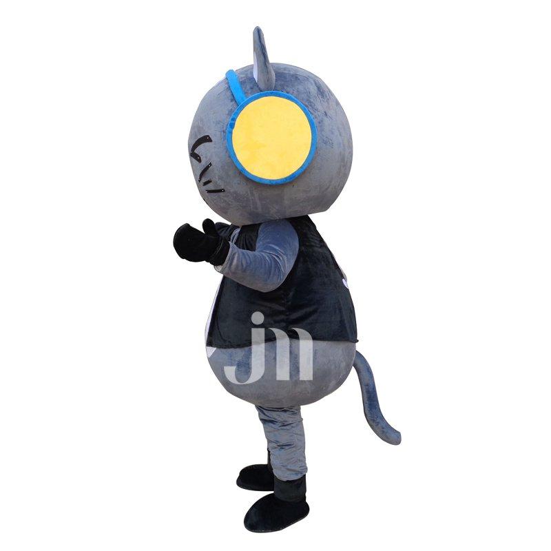 Dj Choi Cartoon Cat Even Walking Doll Cartoon Clothing Sets Head Cool Cat Dj Mascot Costume