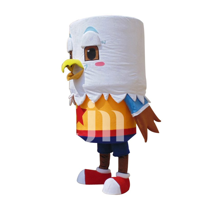 Handsome Bald Eagle Cartoon Cylindrical Sleeve Head Dolls Walking Cartoon Clothing New Promotions Mascot Costume