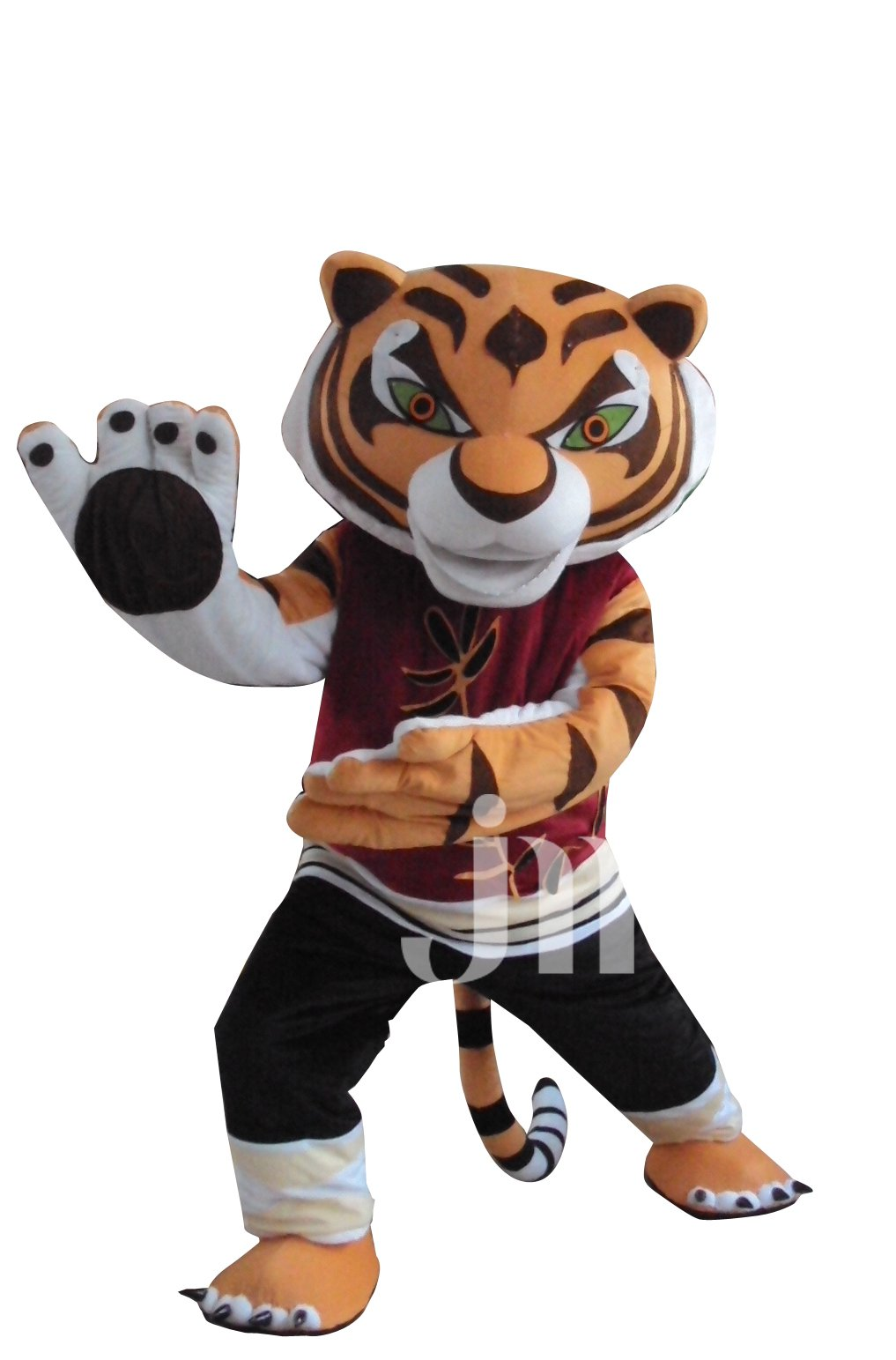 Popular Cartoon Doll Kung Fu Panda Johnson Tiger Walking Doll Cartoon Clothing Sets Head Cute Tiger-jiao Mascot Costume