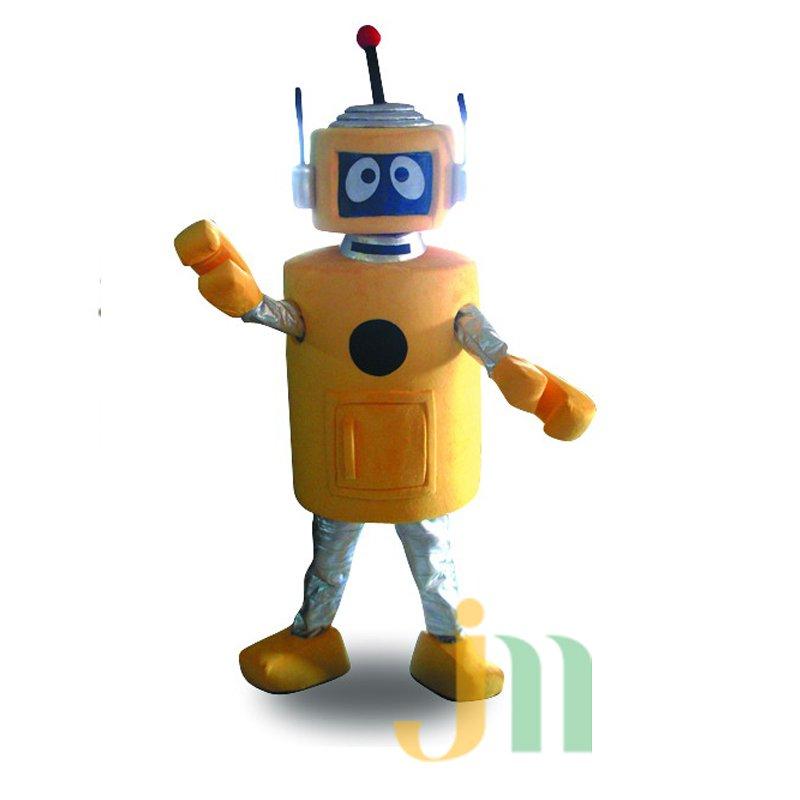 Yellow Robot Cartoon Doll Cartoon Walking Doll Clothing Hedging Yellow Robot Mascot Costume