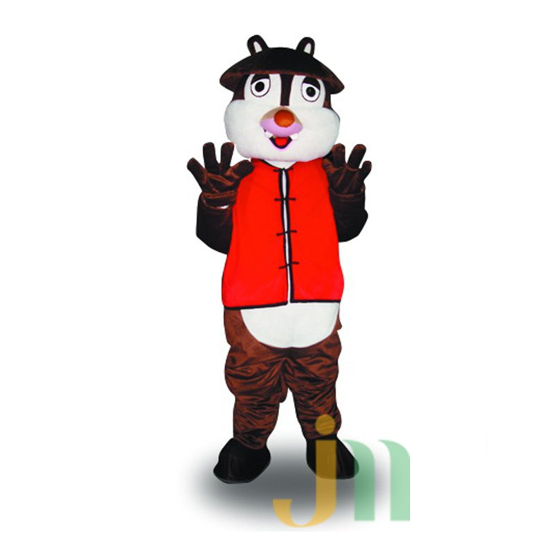 Cartoon Doll Cartoon Squirrel Jacket Walking Doll Clothing Jacket Hedging Squirrel Mascot Costume