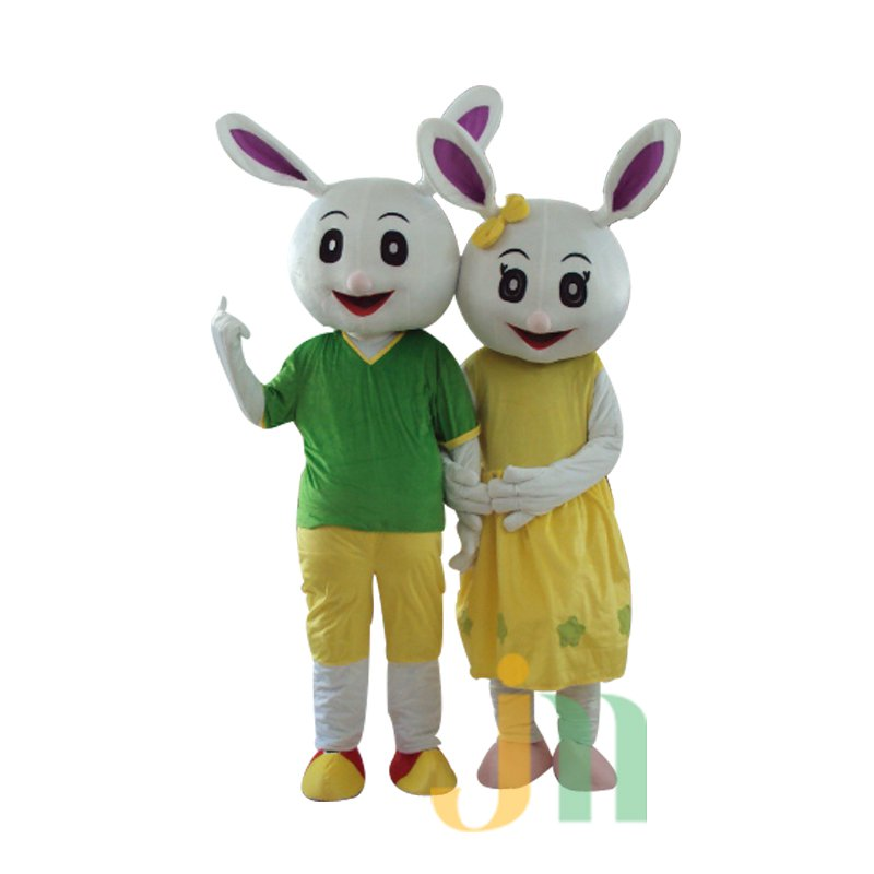 Cartoon Rabbit Siblings Doll Cartoon Walking Doll Clothing Hedging Rabbit Brother and Sister Mascot Costume