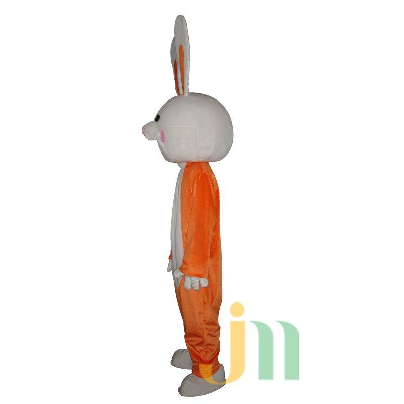 Orange Bunny Costume Cartoon Doll Cartoon Walking Doll Hedging Orange Rabbit Mascot Costume