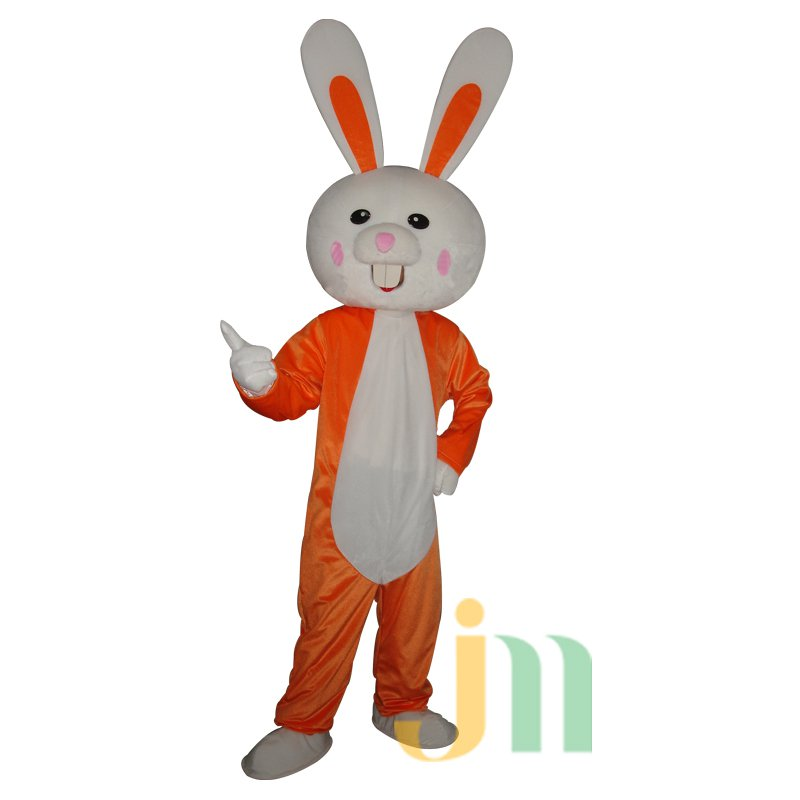 Orange Bunny Costume Cartoon Doll Cartoon Walking Doll Hedging Orange Rabbit Mascot Costume