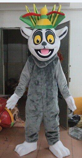 Cartoon Clothing Cartoon Dolls Clothing Film and Television Animation Character Madagascar Lemur Mascot Costume