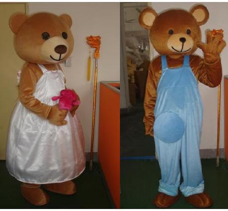 Manufacturers Cartoon Doll Clothing Cartoon Costumes Cartoon Clothing Couple Bear Doll Clothing Advertising Mascot Costume