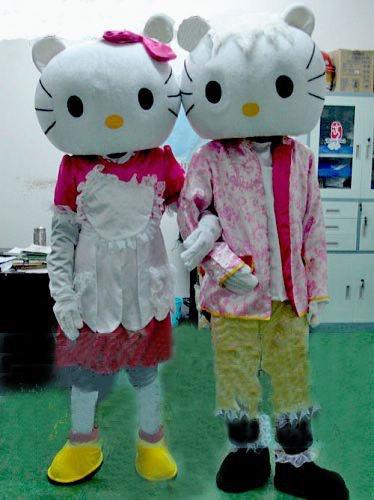 Cartoon Costumes Cartoon Doll Clothing Couple Doll Clothing Cartoon Show Clothing Katie Risk Mascot Costume