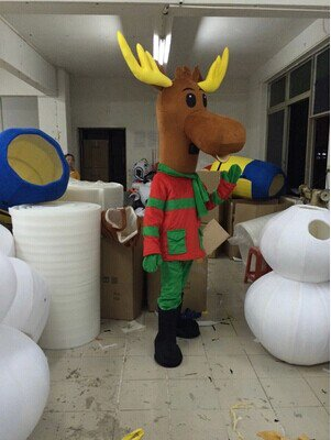 Order Doll Clothing Cartoon Show Clothing Apparel Christmas Deer Doll Festival Mascot Costume