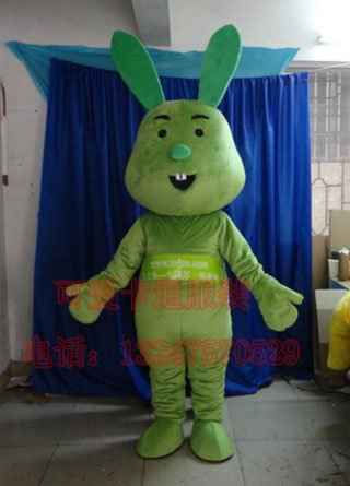 Cartoon Clothing Cartoon Dolls Animal Clothing Apparel Advertising Cartoon Rabbit Tuba Mascot Costume
