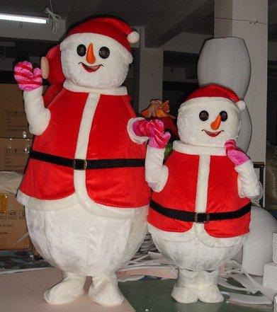 Wuhan Cartoon Costumes Cartoon Doll Clothing Performance Clothing Festive Snowman Mascot Dolls Mascot Costume