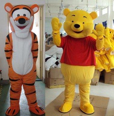 Walking Cartoon Doll Clothing Doll Clothing Winnie The Pooh Tigger Mascot Costume