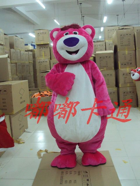 Cartoon Animal Shows Stage Costumes Cartoon Doll Clothing Cartoon Costumes Pink Bear Plush Toys Mascot Costume
