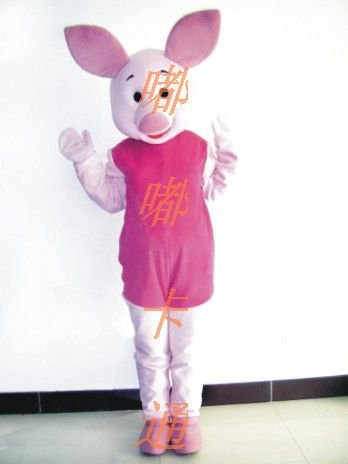 Cartoon Costumes Walking Cartoon Doll Clothing Pink Pig Mascot Costume