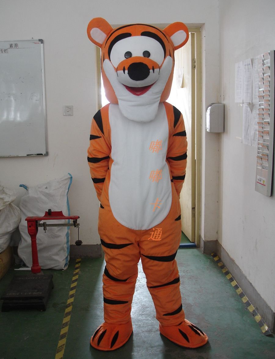 Character Costume Cartoon Doll Clothing Cartoon Clothing Cartoon Costumes Tigger Mascot Costume
