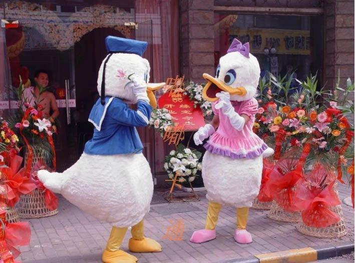 Promotional Clothing Walking Cartoon Dolls Cartoon Clothing Doll Clothes Donald Duck Film and Television Animation Show Mascot Costume