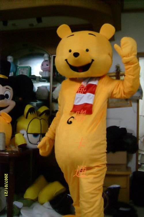Cartoon Costumes Walking Cartoon Doll Clothing Doll Cartoon Winnie The Pooh Cartoon Costumes Mascot Costume