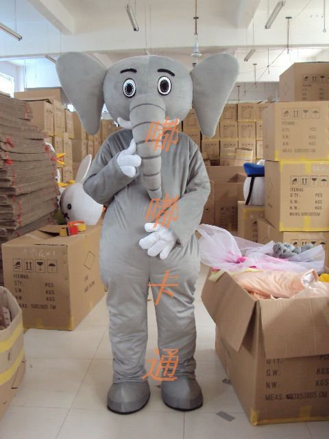 Manufacturers Sold Clothing Walking Cartoon Doll Clothing Cartoon Children Cartoon Costumes Large Gray Elephant Mascot Costume