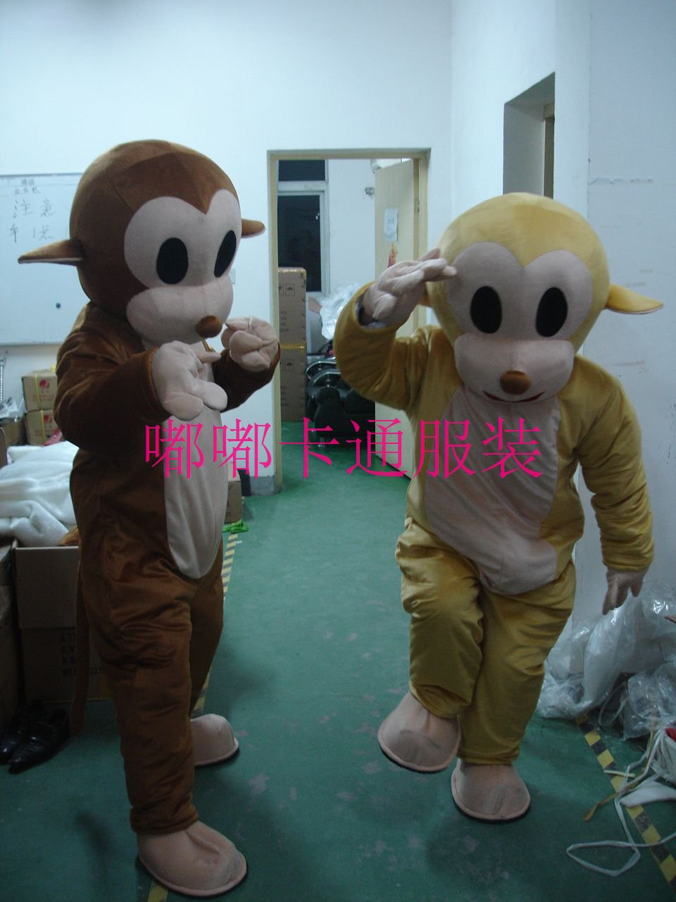 Walking Cartoon Doll Clothing Cartoon Costumes Jumping Monkey Dolls Mascot Costume