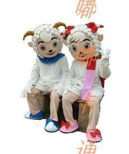 Cartoon Costumes Walking Cartoon Doll Clothing Cartoon Costumes Beautiful Sheep Pleasant Mascot Costume
