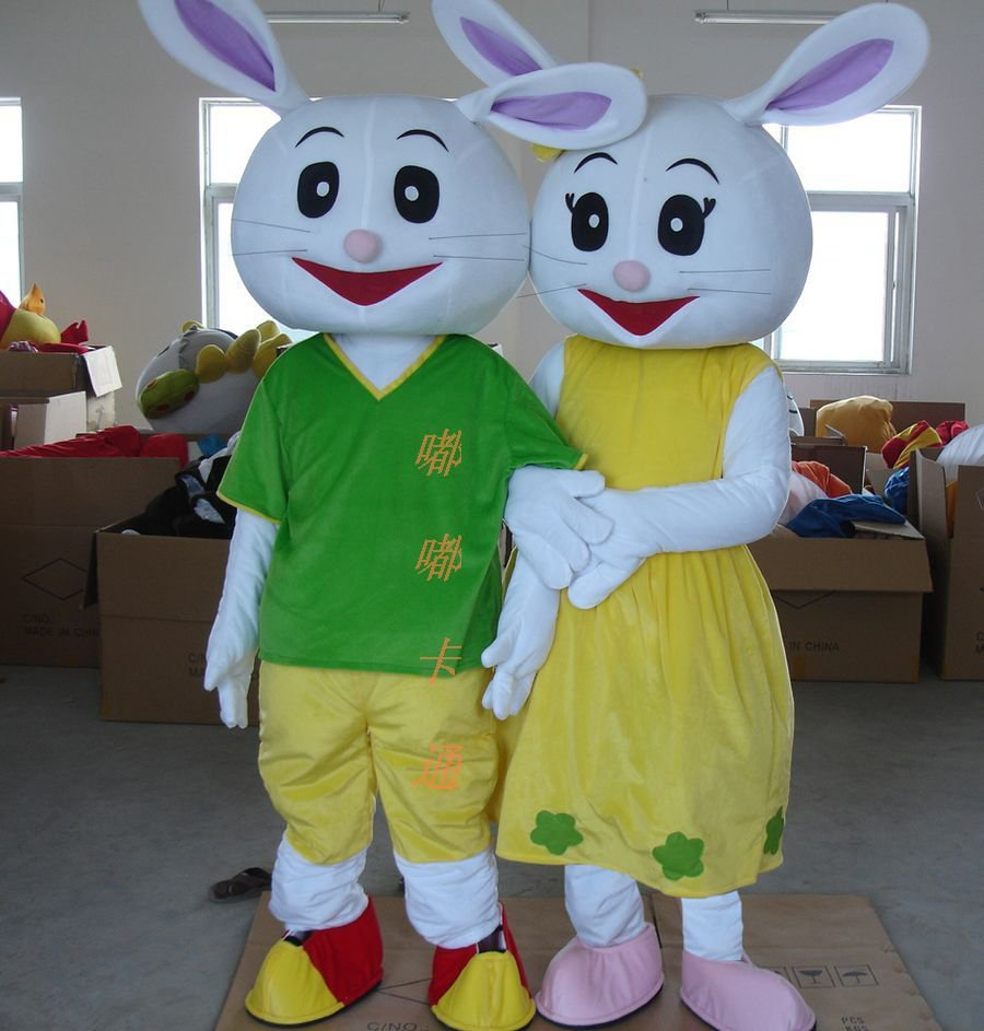 Cartoon Costumes Walking Cartoon Doll Clothing Cartoon Costumes Cartoon Happy Rabbit Doll Mascot Costume
