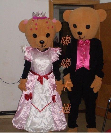 Cartoon Costumes Walking Cartoon Doll Clothing Cartoon Costumes Wedding Edition Bears Mascot Costume