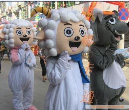 Cartoon Costumes Walking Cartoon Doll Clothing Pleasant Us Frankie Wolf Mascot Costume