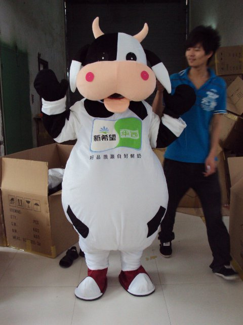 Walking Cartoon Doll Clothing Cartoon Show Clothing Costumes Stage Performance Apparel Clothing Dolls Mouth Cow Mascot Costume