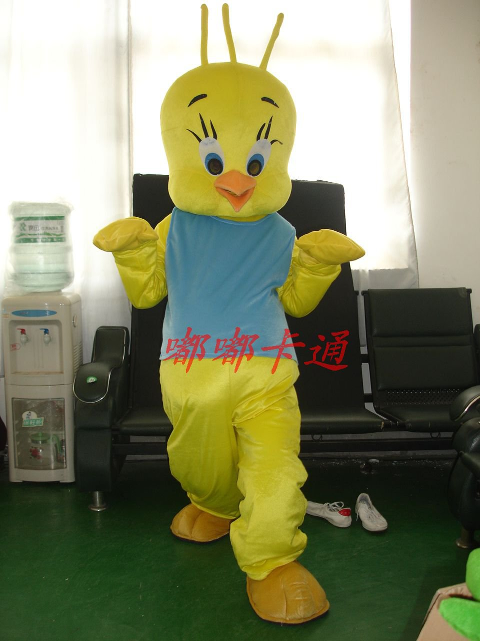Walking Cartoon Doll Clothing Cartoon Show Clothing Stage Costumes Cartoon Chick Blue Vest Mascot Costume