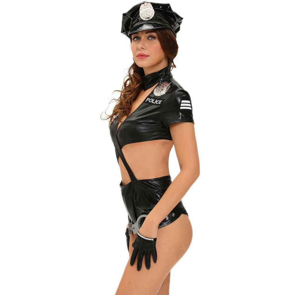 Europe and The United States Halloween Uniforms Justice Brave Sexy Sweet Seductive Woman Police Six Piece Suit Halloween Costume