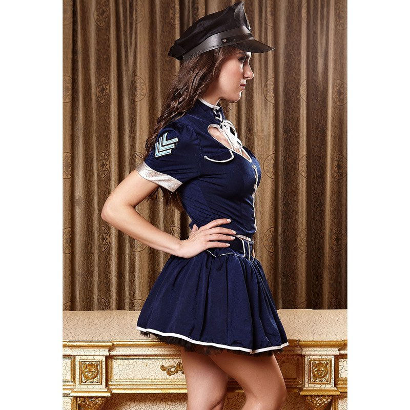 Unique Heart - Shaped Police Uniforms Sexy Police Uniform Stage Equipment Halloween Costume
