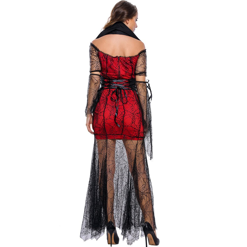 Fall and Winter Halloween Cosplay Vampire Queen Bat Sleeve Stage Performance Halloween Costume