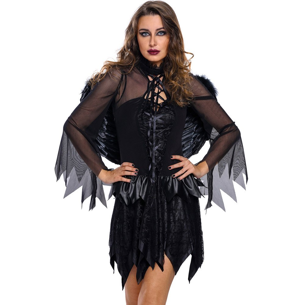 Halloween Adult Halloween Fallen Angel of Black Angel Stage Halloween Costume