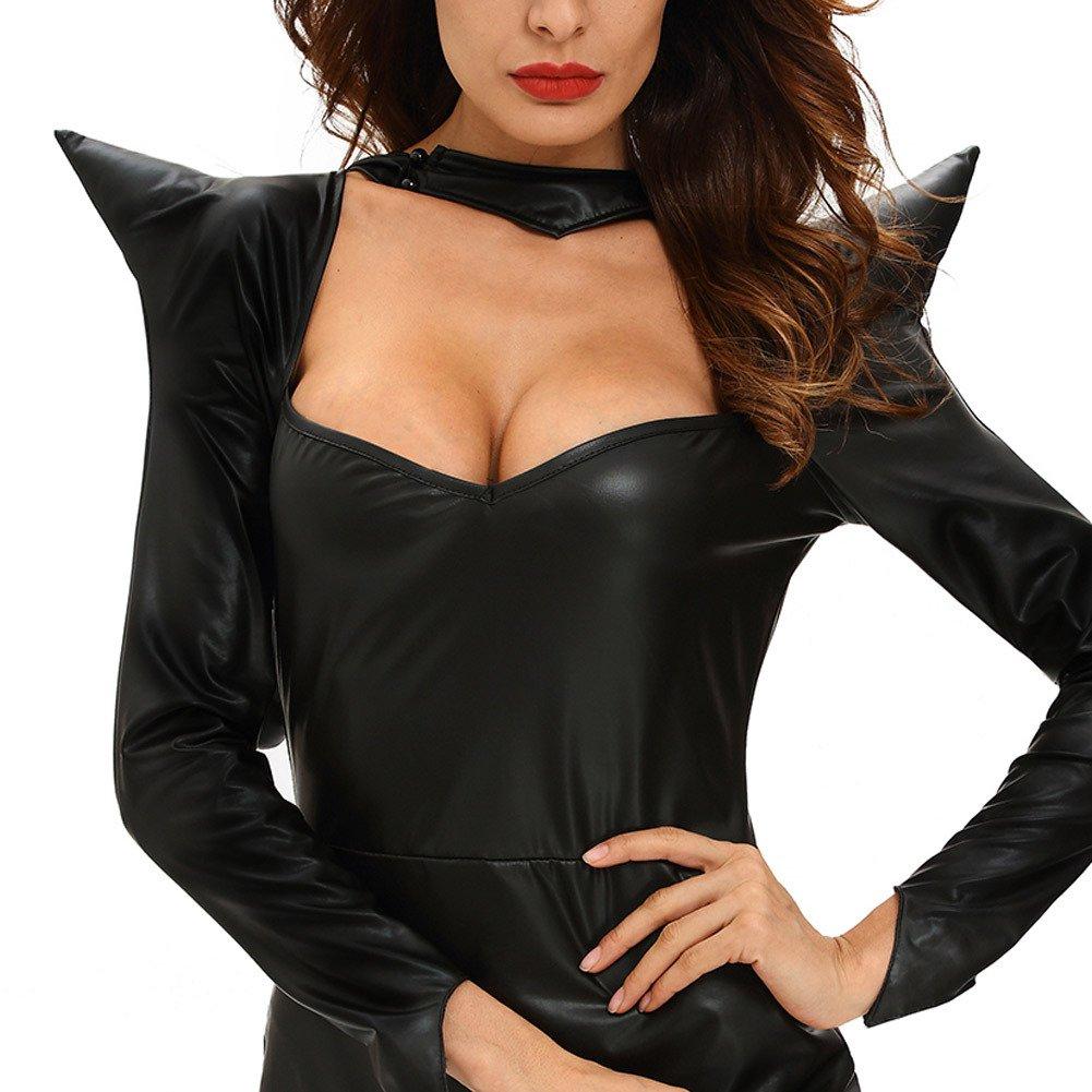 Halloween Black Witch Stage Dress Long Sleeve Little Dress Hooded Irregular Skirt Dress Halloween Costume