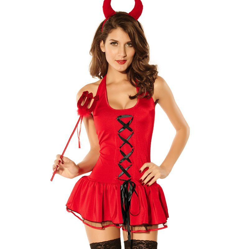 Halloween Europe and The United States Halloween Evil Puff Skirt Small Devil Witch Series Game Uniform Halloween Costume