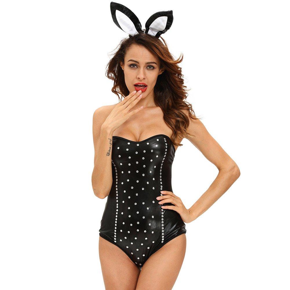 Halloween Sexy Black Siamese Rabbit Set Singer Stage Set Out Uniforms Halloween Costume