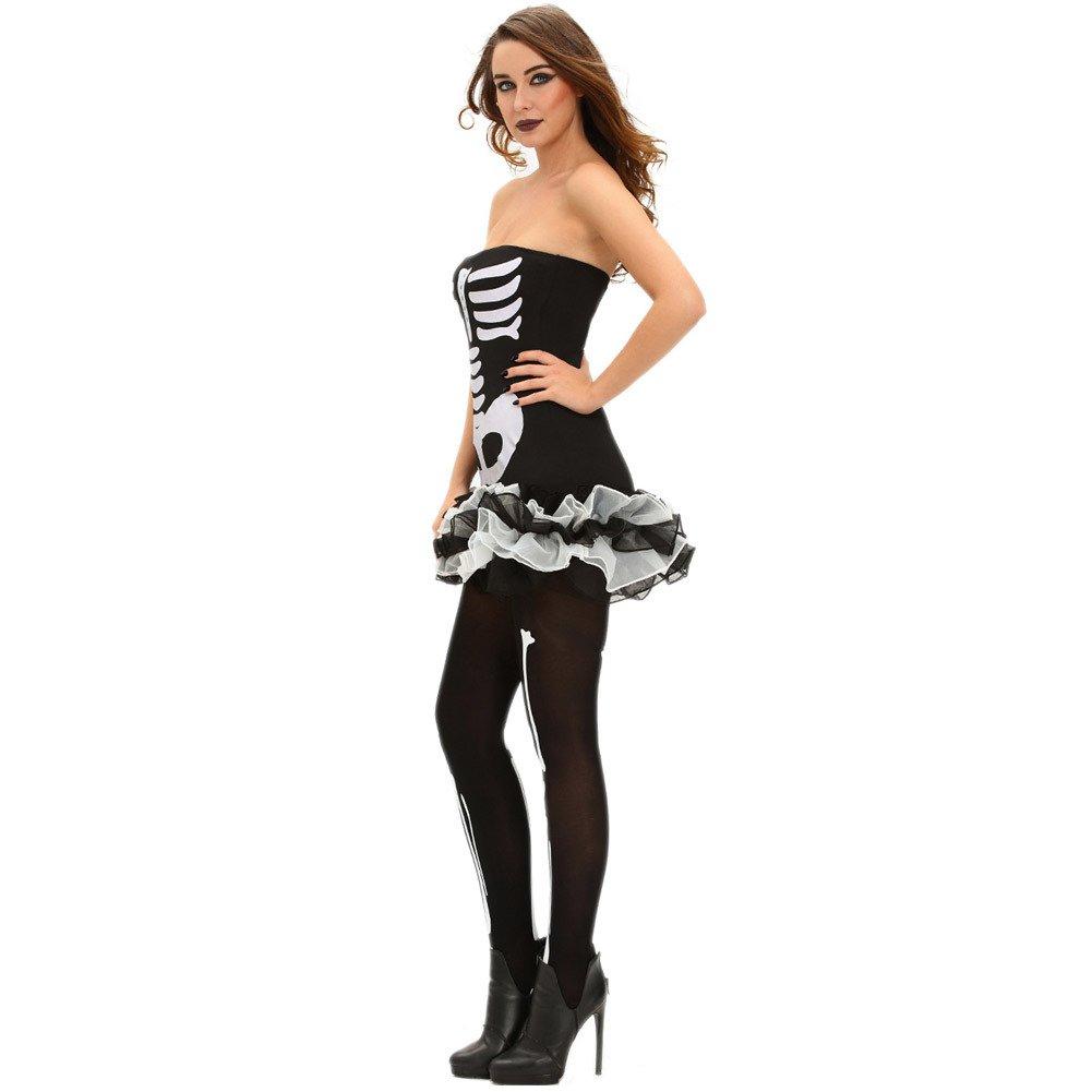 Halloween Sleeveless Collar Collar Skirt Cosmetic Dress Halloween Costume