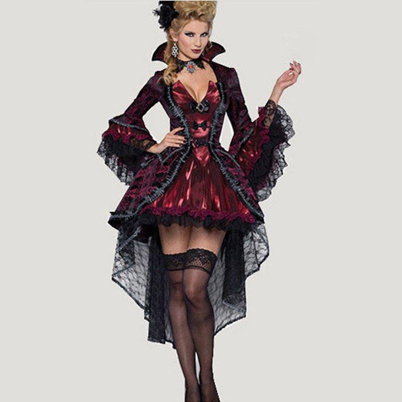 Halloween Witch Vampire Bad Heart Devil Wife Stage Costume Halloween Costume