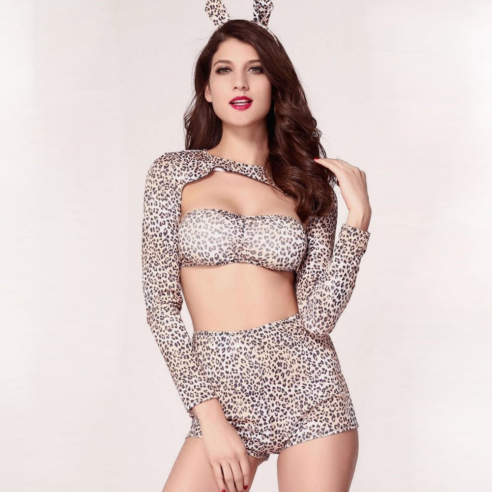 Women #39 S Stage Clothing Ds Sexy Leopard Lead Dance Clothing Halloween Costume