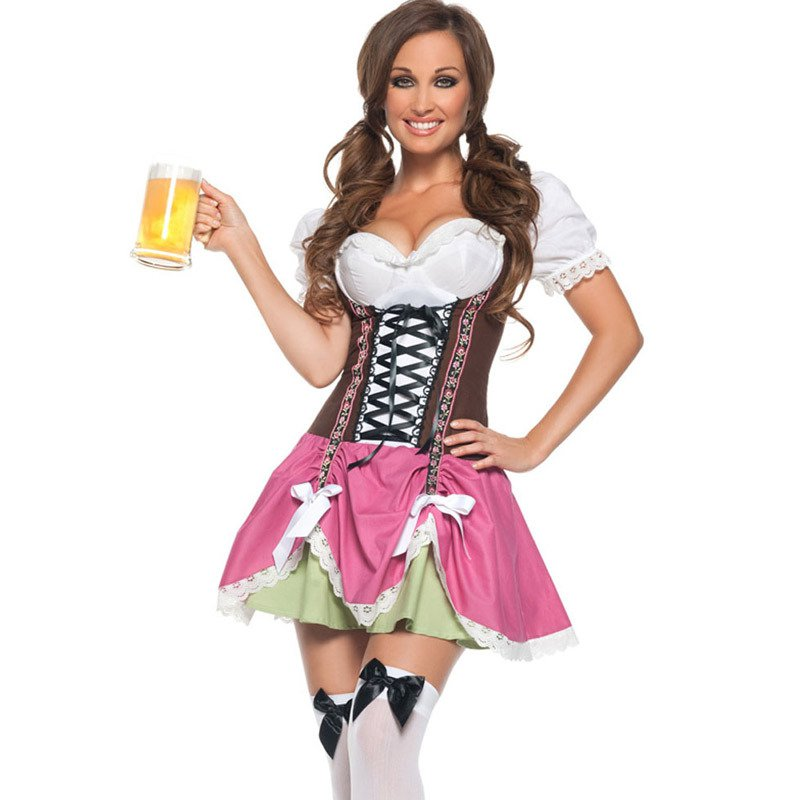 Europe and The United States Halloween Role - Playing Lovely Girl Oktoberfest Clothing Clothing Sexy Stage Installed Halloween Costume