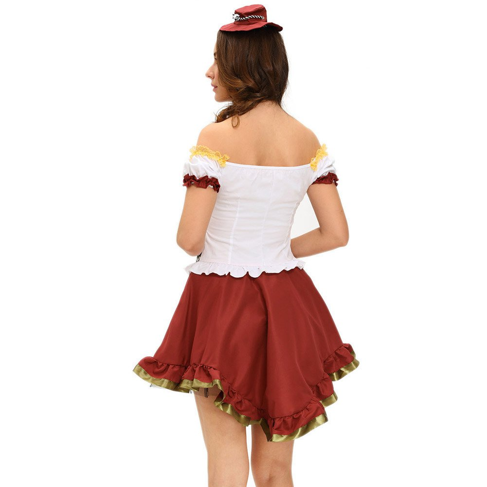 Europe and The United States Halloween Waiter Sexy Strapless Mini Dresses Stage Clothing Halloween Costume