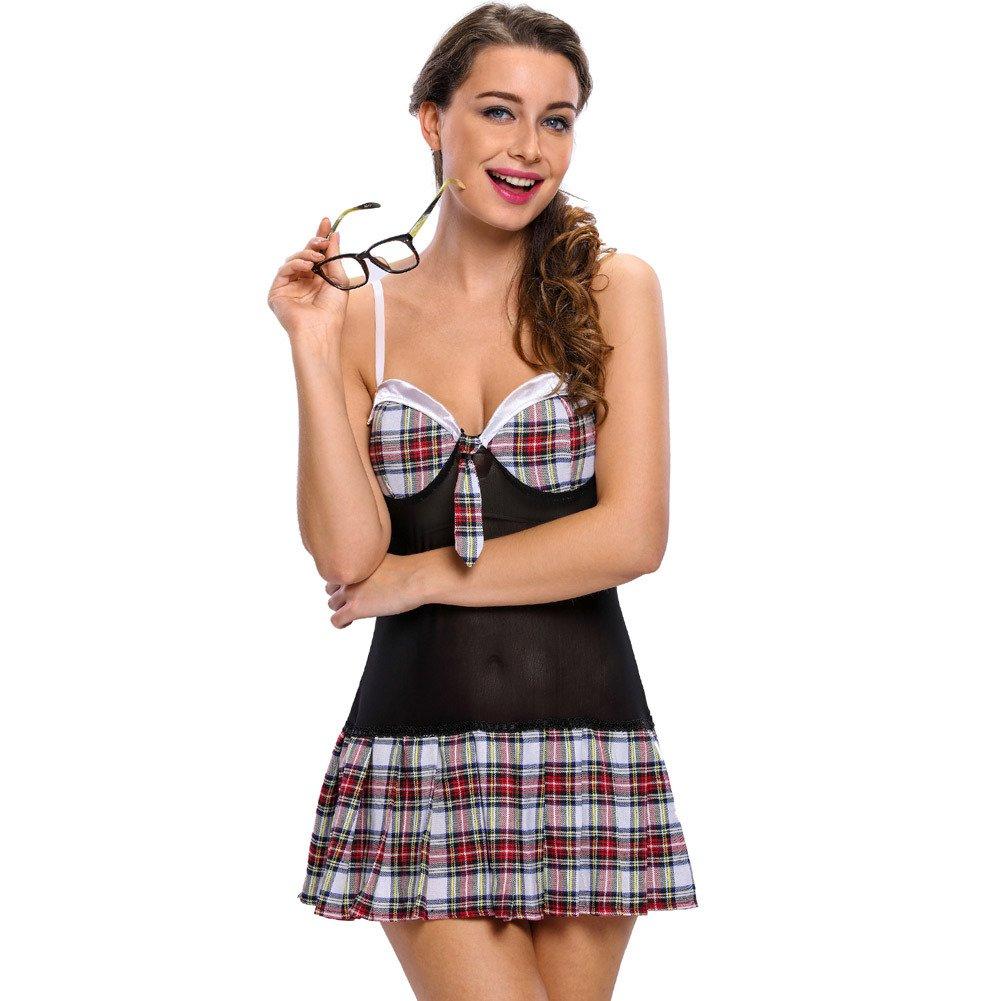 Halloween Costumes Plaid Plaid Sling Sleeveless Pleated Skirt Dress