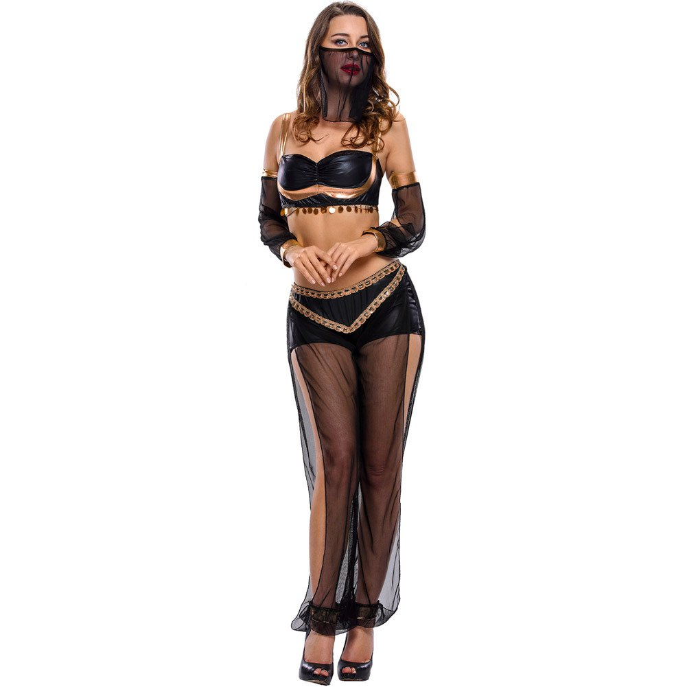 Halloween Performance Costume Belly Dance Sequins Decorative Sexy Four - Piece Stage Clothes Halloween Costume